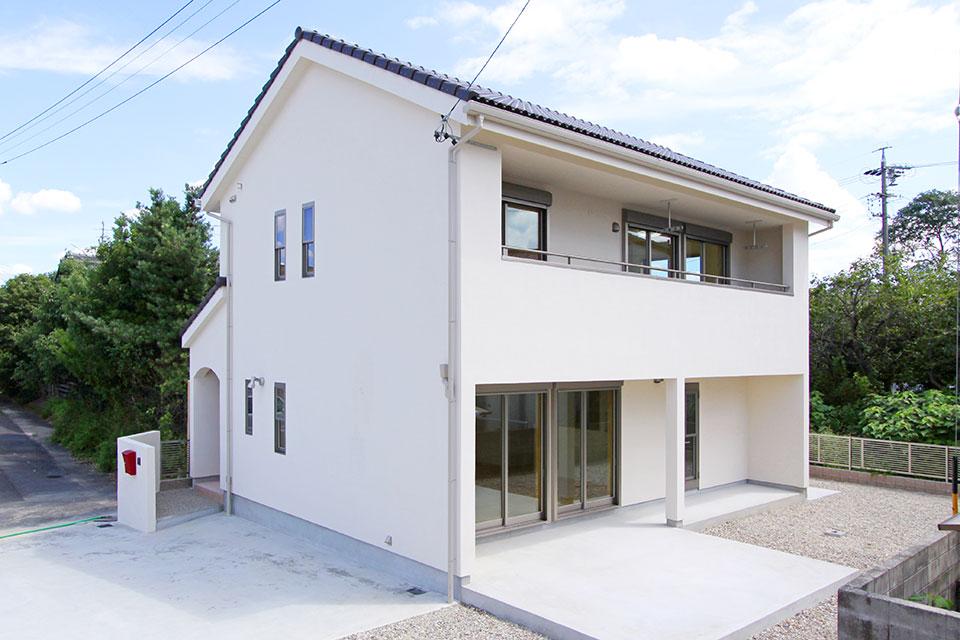自然素材で建てる注文住宅ここち家S様邸外観